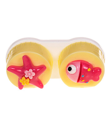Coloured Contacts Fish Lens Case (Yellow)