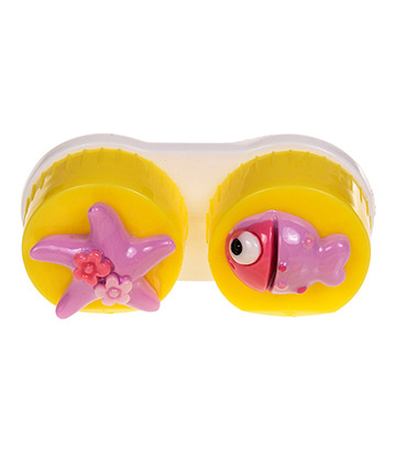 Coloured Contacts Fish Lens Case (Dark Yellow)