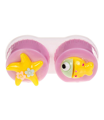 Coloured Contacts Fish Lens Case (Lilac)