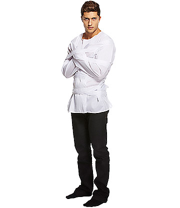 Blue Banana Straight Jacket Fancy Dress (White)