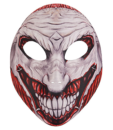 Blue Banana Scary Joker Mask (Grey/Red)