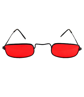 Blue Banana Vampire Glasses (Red)