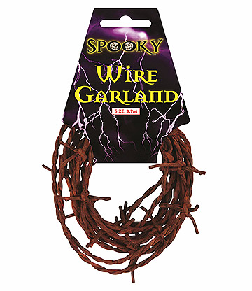 Blue Banana Rusty Barbed Wire Garland (Brown)