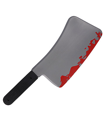 Blue Banana Fancy Dress Plastic Blooded Cleaver (45CM)