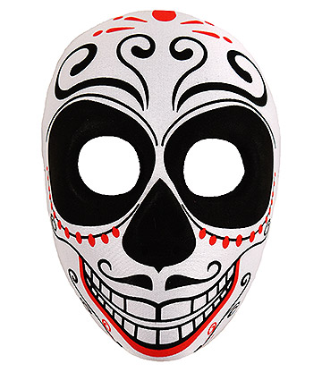 Blue Banana Day of the Dead Moustache Mask (Multicoloured)