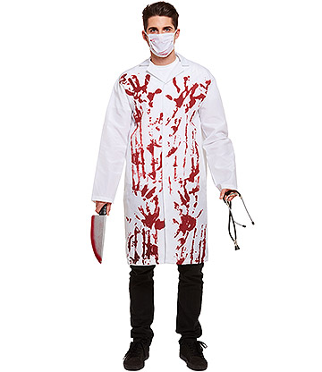 Blue Banana Bloody Doctor Fancy Dress Costume (White)