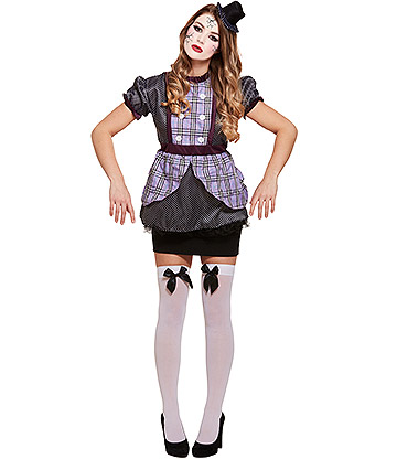 Blue Banana Broken Doll Fancy Dress Costume (Purple)