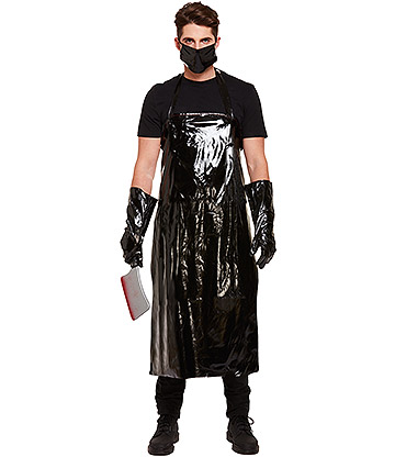 Blue Banana Scary Butcher Fancy Dress Costume (Black)
