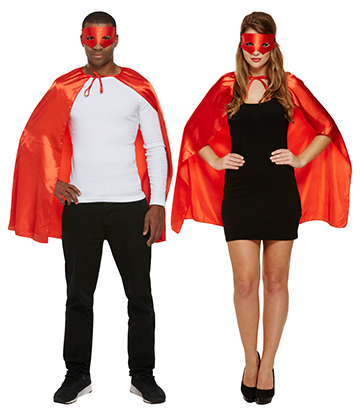 Blue Banana Superhero Fancy Dress Costume (Red)