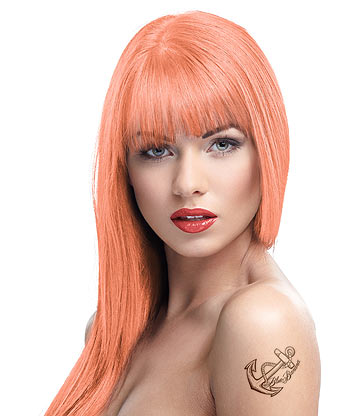 Crazy Color Semi-Permanent Hair Dye 100ml (Peachy Coral)