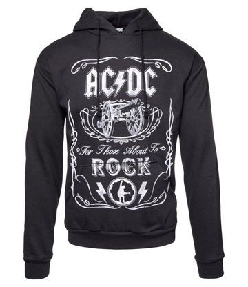 Official AC/DC Cannon Hoodie (Black)