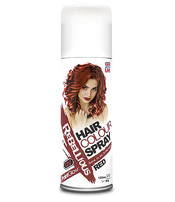Paintglow Rebellious UV Temporary Colour Hair Spray 125ml (Red)