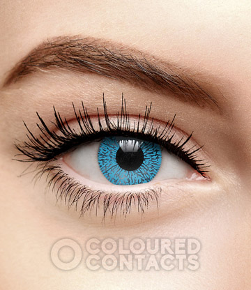 Sapphire 90 Day Coloured Prescription Contact Lenses (Blue)