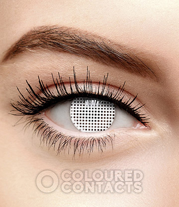 Mesh 90 Day Coloured Prescription Contact Lenses (White)