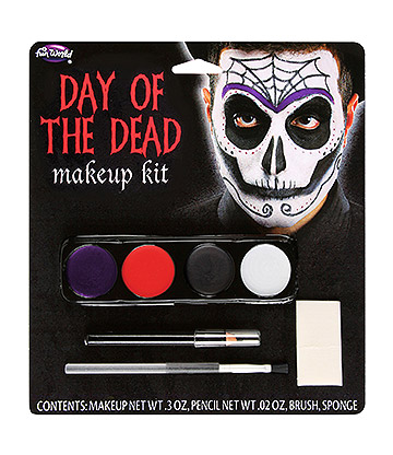 Blue Banana Day Of The Dead Skeleton Makeup Kit (Multcoloured)