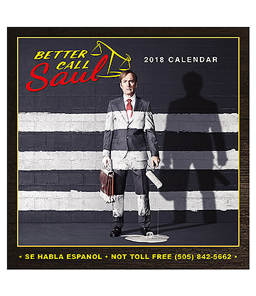 Official Better Call Saul 2018 Calendar
