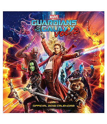 Official Guardians of the Galaxy 2 2018 Calendar