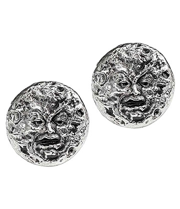 Alchemy Gothic M'era Luna Stud Earrings (Silver)