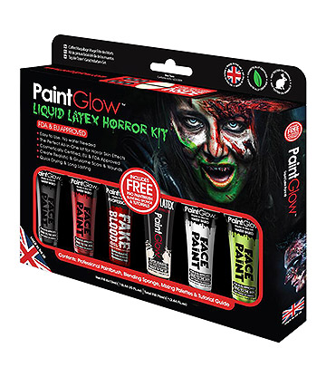 Paintglow Liquid Latex Horror Kit (Multicoloured)