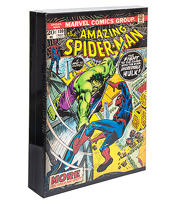 Marvel Comics Luminart Light Up Spiderman Canvas (Multicoloured)
