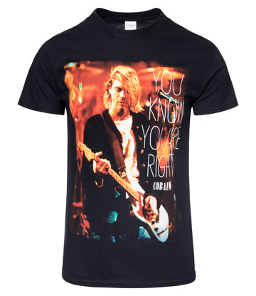 Official Kurt Cobain You Know You're Right T Shirt (Black)