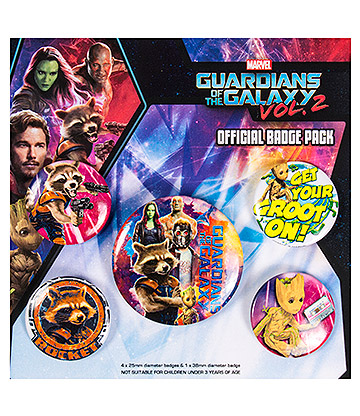 Guardians Of The Galaxy Rocket & Groot Badge Pack (Pack Of 5)