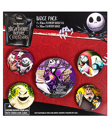 Nightmare Before Christmas Badge Set (Pack Of 5)