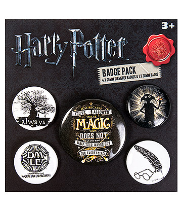Harry Potter Symbols Badge Set (Pack Of 5)