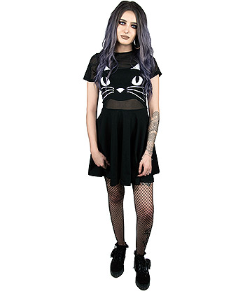 Fearless Illustration 2 in 1 Shape Shifter Dress (Black)