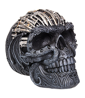 Nemesis Now Sword Skull Figurine 18.5cm (Black/Silver)