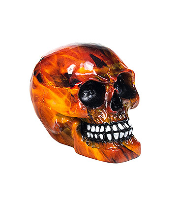 Nemesis Now Inferno Skull Figurine 8cm (Red)