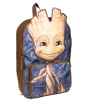 Marvel Guardians Of The Galaxy Baby Groot Backpack (Blue/Brown)