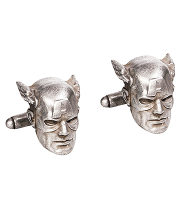 Marvel Comics Captain America 3D Cufflinks (Silver)