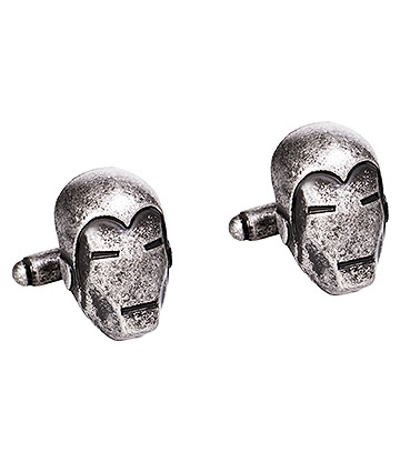 Marvel Comics Iron Man 3D Cufflinks (Silver)