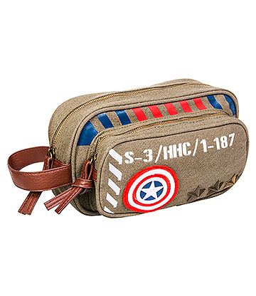 Marvel Captain America Vintage Military Wash Bag (Green)
