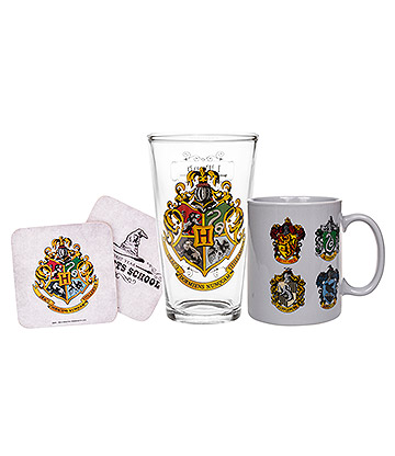 Harry Potter Crests Mug & Glass Gift Box (Multicoloured)