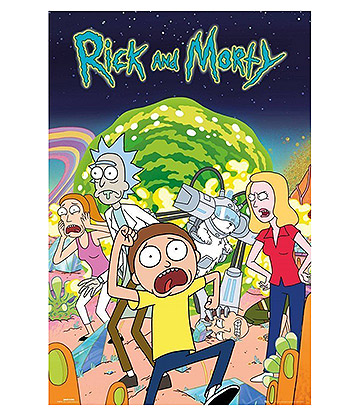 Rick & Morty Group Poster (Multicoloured)