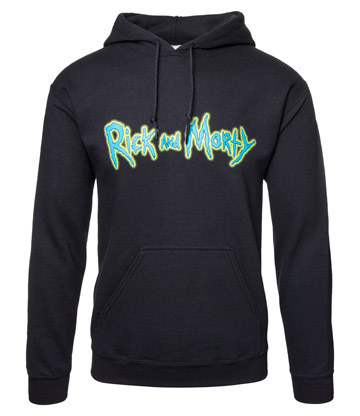 Rick & Morty Riggity Riggity Wrecked Hoodie (Black)