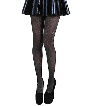 Pamela Mann Sparkly Tights (Black/Silver)