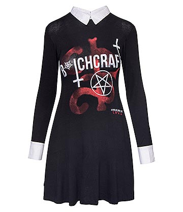 Spiral Direct x American Horror Story Bitchcraft Baby Doll Dress (Black)