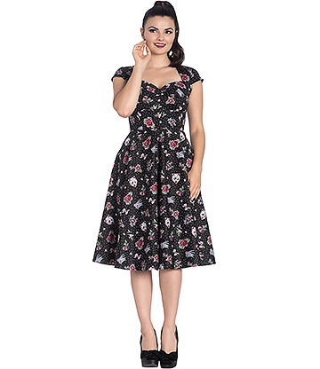 Hell Bunny Stevie 50's Dress (Black)