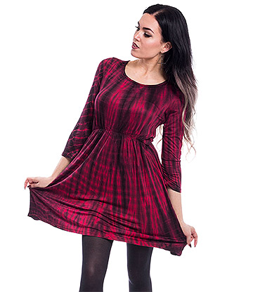 Innocent Corrie Mini Dress (Red/Black)