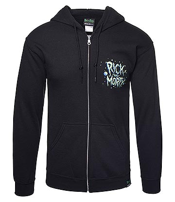 Rick & Morty Space Ship Hoodie (Black)