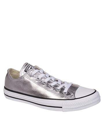 Converse All Star Metallic Ox Shoes (Gunmetal Silver)