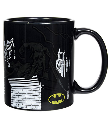 DC Comics Batman Shadows Heat Changing Mug (Black)