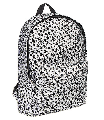 Bleeding Heart Stars Backpack (Silver/Black)