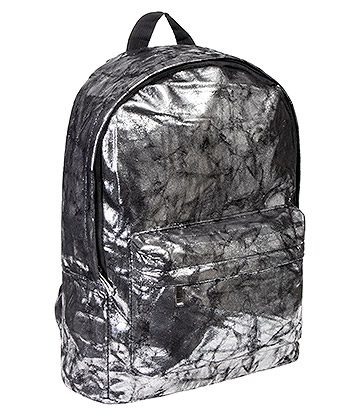 Bleeding Heart Distressed Backpack (Silver/Black)