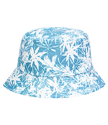 Blue Banana Tropical Canvas Bucket Hat (Blue)