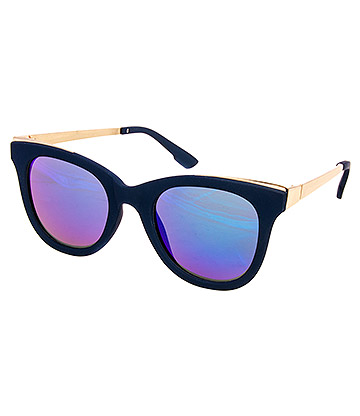 Blue Banana Gold Arms Sunglasses (Navy/Gold)