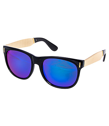 Blue Banana Gold Arms Sunglasses (Black/Gold)